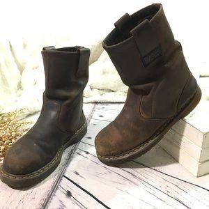 Dr Martens Wellington steel toe work boots